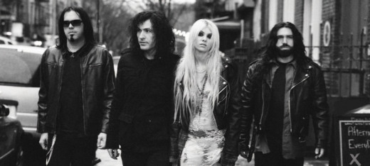 The Pretty Reckless (from left to right): Mark Damon, Ben Phillips, Taylor Momsen and Jamie Perkins.