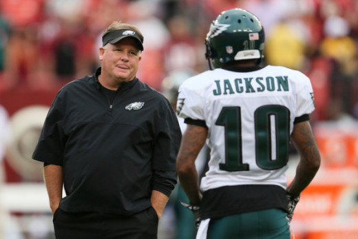 Philadelphia Eagles head coach / GM Chip Kelly (L) former WR DeSean Jackson