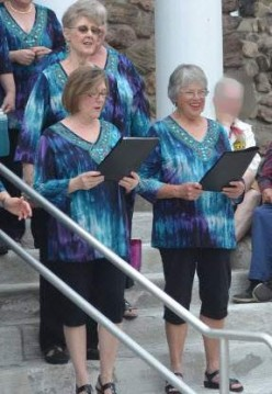 Singing  with The Acapella North Sweet Adelines Chorus in Colton, New York