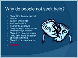 Why people don't seek help.
