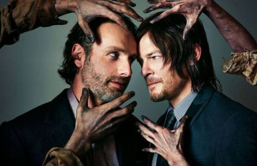 The Walking Dead's Andrew Lincoln and Norman Reedus.
