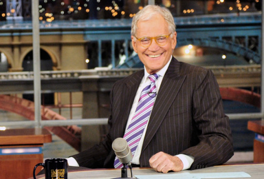"David Letterman on ""The Late Show with David Letterman."""