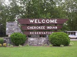 Cherokee Reservation Sign