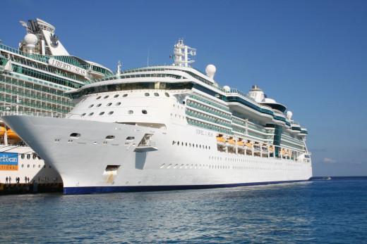 Royal Caribbean ship docked in Cozumel, Mexico