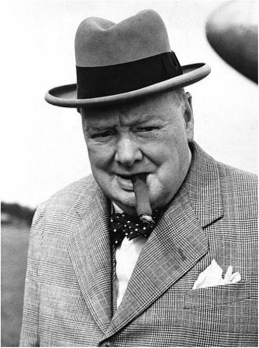 There is always equal time for conservatives on these pages.  Here is Winston Churchill puffing away on one of the famous Cuban Romeo y Julieta cigars he favored.