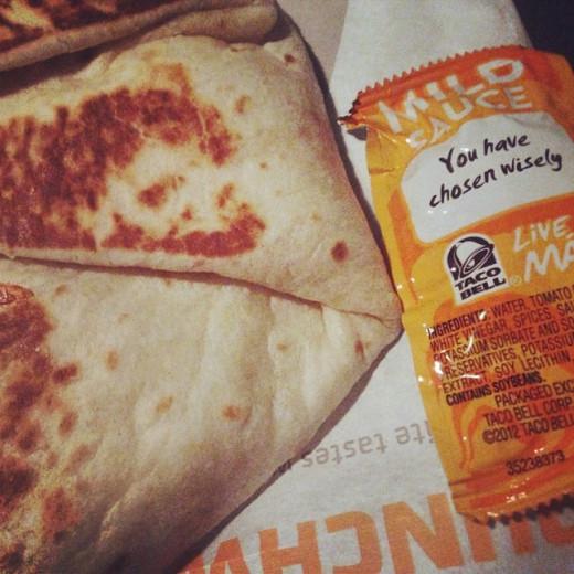 Taco Bell Crunch Wrap Slider