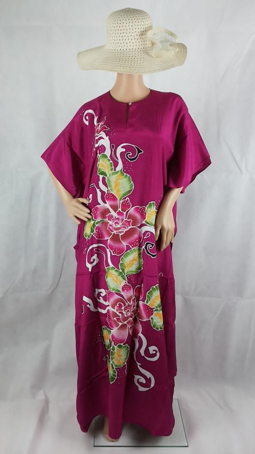 My fav.. shocking pink with beautiful hand drawn tjanting batik flowers.