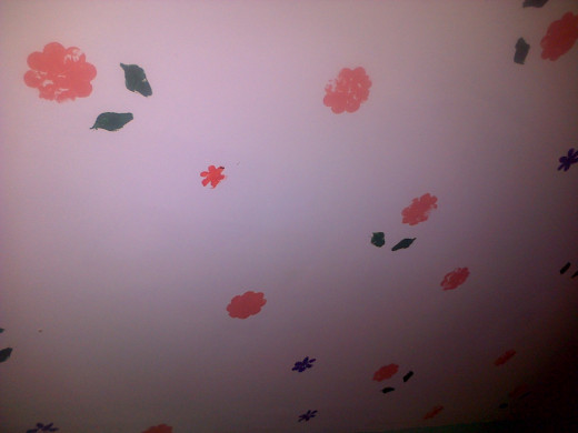 Ceiling Flowers & Leaves