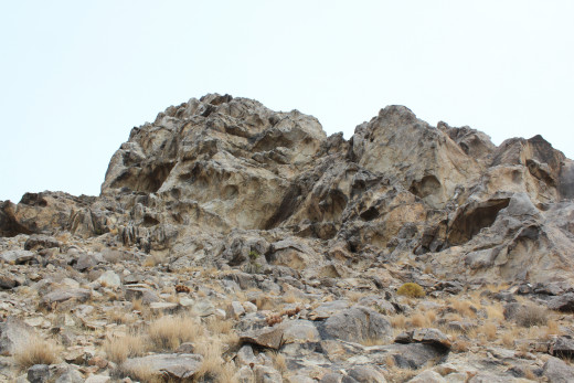 A closer view of the Western side, revealing more of the details of it's eerie face.