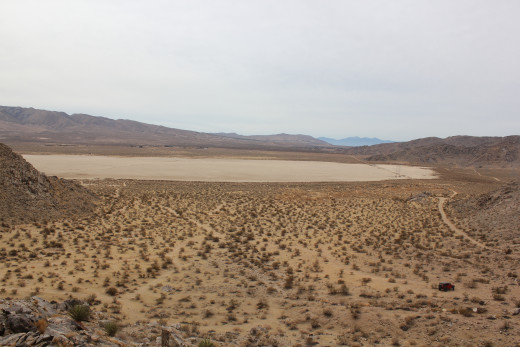 Another view of the lake bed from, higher up, giving one an idea of what natives may have seen in late October.