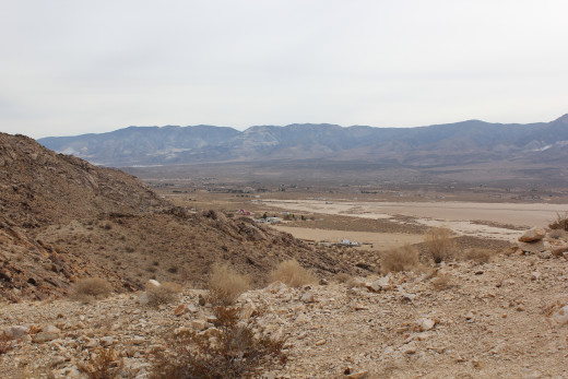 A view from high in chimney rock looking southeast into Lucerne Valley.