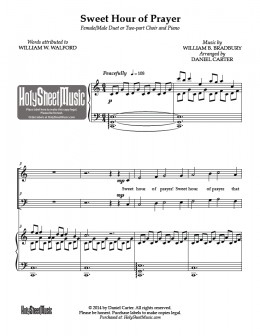The arrangement you've listened to is available at HolySheetMusic.com