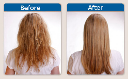Before and After of Keratin Treatment