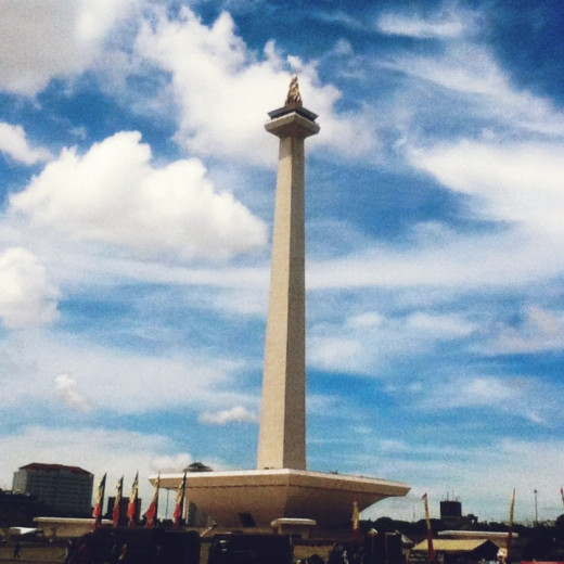 Monas on a clear day
