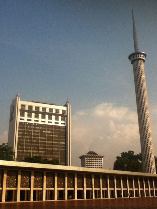 View from Istiqlal Mosque's Courtyard