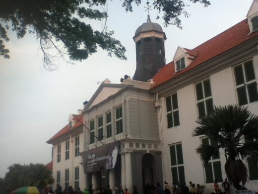 Fatahillah Museum at dusk