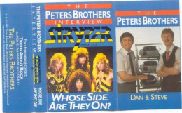 """""""The Peters Brothers Interview Stryper"""" - check out the stylin' slide projectors and Steve's ultra cool sweater vest!!"""
