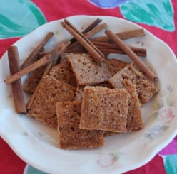 Grain-Free Diabetic Cinnamon Crisps