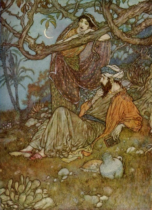 "(from ""The Rubaiyat of Omar Khayyam"" - illustration by Edmund Dulac)"