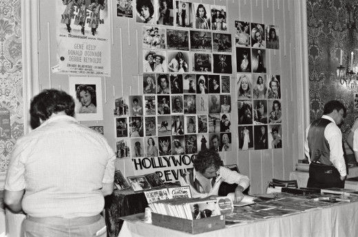 The dealer's room at the National Film Society convention, May 1979.