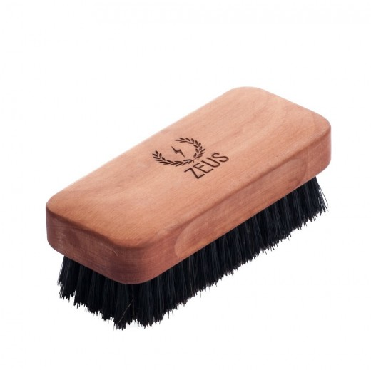 Zeus Large Boar Bristle Beard & Moustache Brush