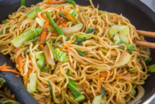 Yaki soba is considered a Japanese dish but techinically originated in China as chow mein.