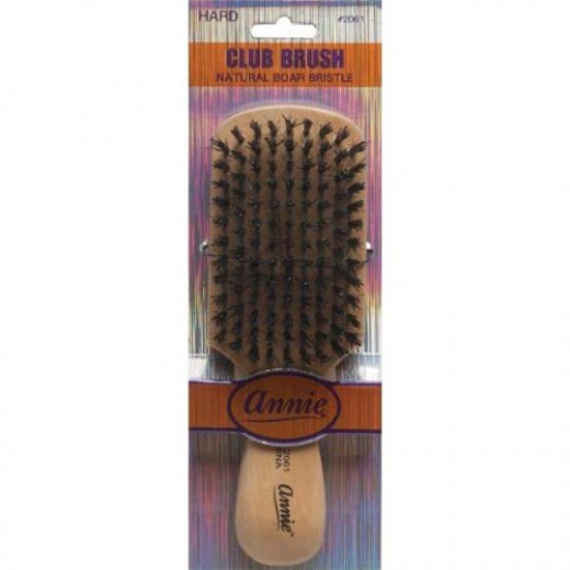 Annie Natural Boar Bristle Hard Club Brush #2061