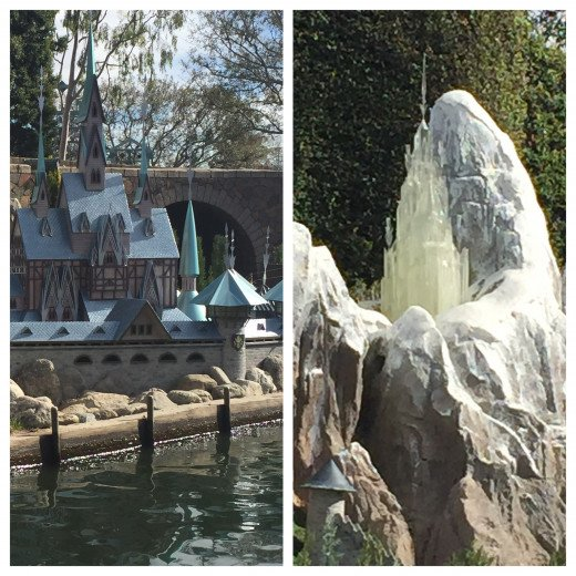 Arandelle palaces in the Storybook Land Canal Ride
