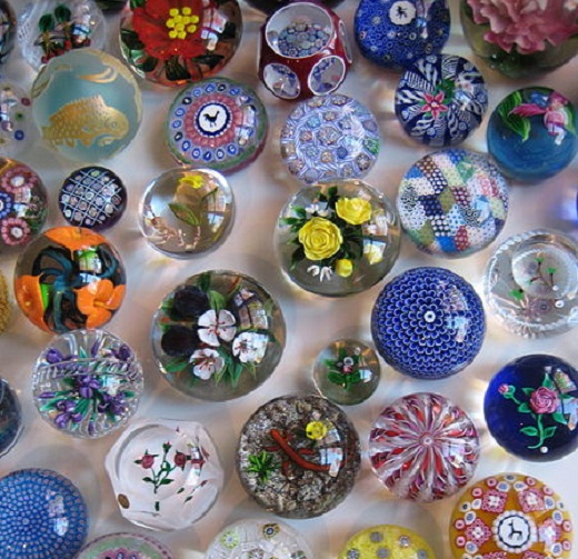 A private collection of glass paperweights