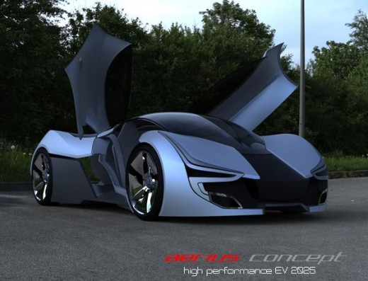 Aerius electric concept car harnesses solar energy to increase driving range.