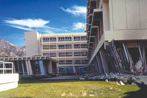 Olive View Hospital failure, San Fernando earthquake, 1971.