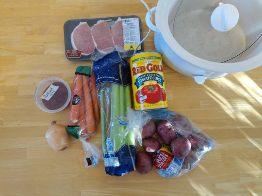 The ingredients.  Notice my paprika is in a bulk container :-)
