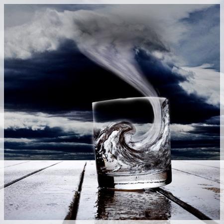 tempestade em copo d'água