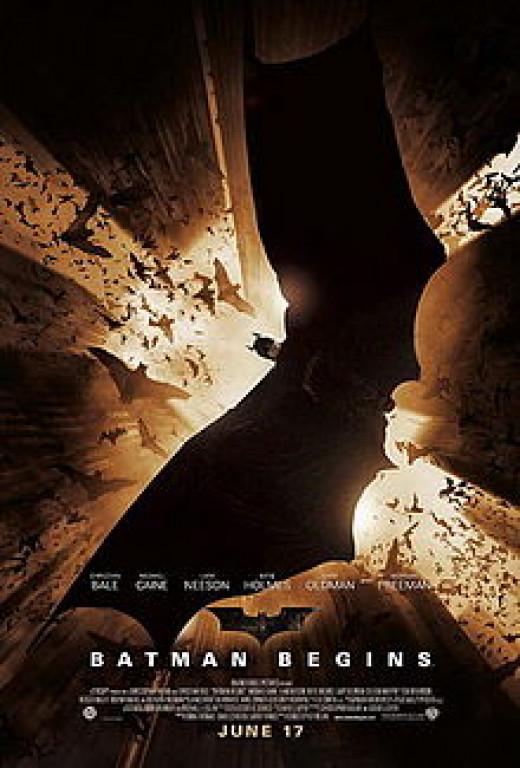 Batman Begins (2005). Christian Bale as Bruce Wayne/Batman.