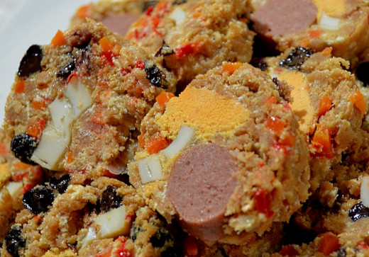 Filipino Embutido is a delightful meatloaf variation that can include raisins, eggs and a variety of vegetables