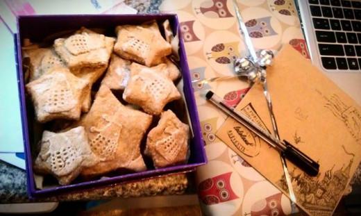 Dalek cookies made using a cookie stamp