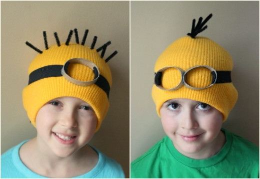 There's so many characters. From Disney, to Super Heroes, hundreds of Kids Shows, toys, and games.- If you have a favorite- replicate it on a clothing item, to turn a regular hat into a homemade masterpiece they created.