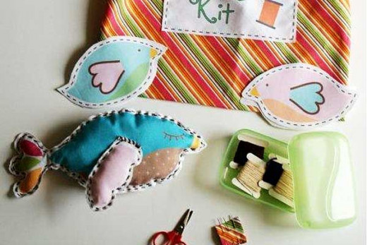 Stuffed sachets with fabric squares. A sewing needle, steady hand, some slight patience, and an appreciation for sweet trinkets will have you making bowls of homemade sashes- Prep your squares with sewn in hearts and flowers.