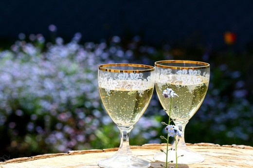 Champagne for two.