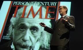 Nobel prize-winning theoretical physicist, Albert Einstein.