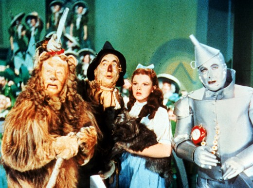 "The Cowardly Lion, Scarecrow, Dorothy and Tin Man live on in ""TCM Presents: The Wizard of Oz."""