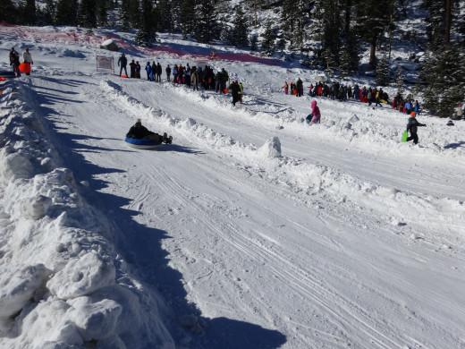 Snow Tubing at Adventure Mountain Lake Tahoe