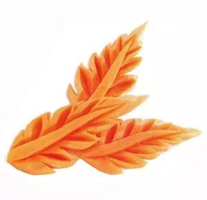 Carrot Leaf Carving