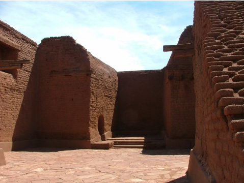 This is what remains of the third incarnation of Our Lady of The Angels found in the Pecos National Historical Park southeast of Santa Fe, New Mexico It was constructed outside the walls of a Pecos Pueblo Indian village to convert them.
