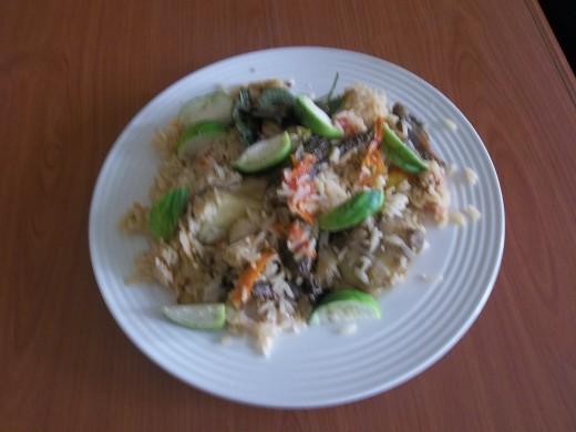 A vegetable chop