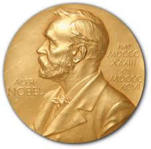 A picture of the Nobel Prize.