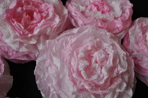 Light Pink Coffee Filter Roses -  Big and Beautiful