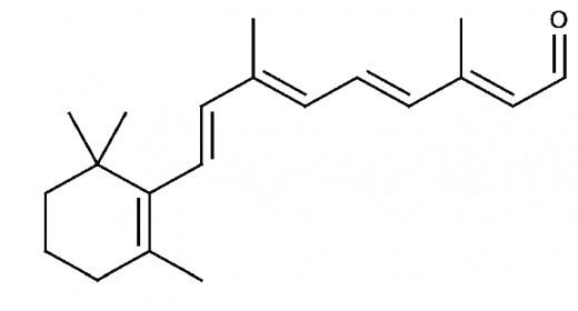 Retinal ((2E,4E,6E,8E)-3,7-Dimethyl-9-(2,6,6-trimethylcyclohexen-1-yl)nona-2,4,6,8-tetraenal)