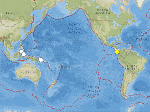 Earthquakes of 6.3-6.6 from 2Dec14 to 7Jan15.