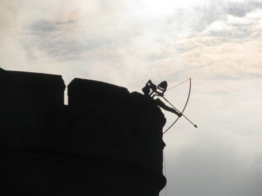 Quirky Artwork: Archer on the Battlements, Tower of London